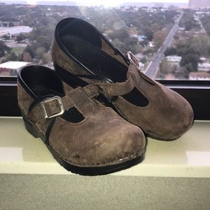 Sanita danish clogs distressed leather shoes